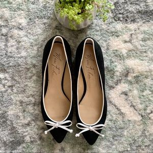 MARC FISHER / BOW TIE BLACK WHITE FLATS